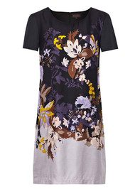 Great Plains Waterfall Garden Print Dress - Navy