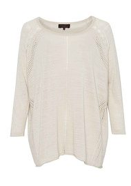 Great Plains Lacey Mai Pointelle Top - Salt White