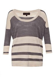 Great Plains Big Band Stripe Knit - Salt Combo