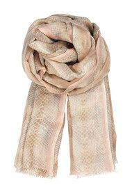 Becksondergaard M Snake Spine Silk & Wool Blend Scarf - Girly Pink