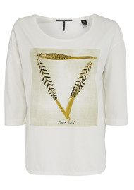 Maison Scotch 3/4 Sleeve Photo Print Tee - White