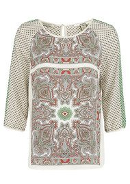 Maison Scotch Printed Scarf Inspired Blouse - Combo B