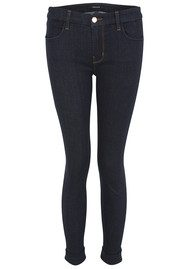 J Brand 8020 Anja Mid Rise Clean Cuff Skinny Jeans - Night Shadow