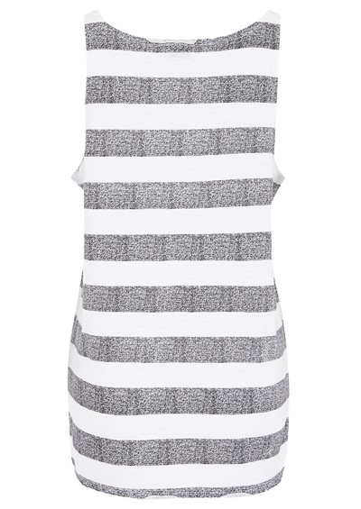 Twist and Tango Malena Tank Top - White & Grey main image