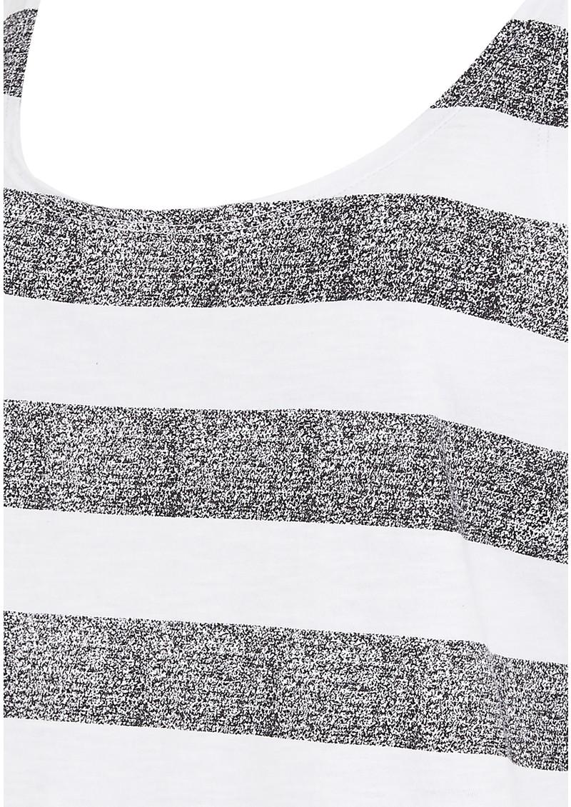 Malena Tank Top - White & Grey main image
