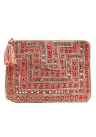 Star Mela Dali Embossed Clutch - Beige