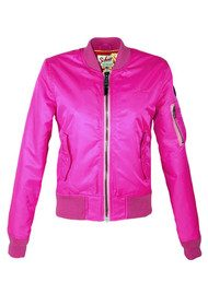 Worn By Light Weight Bomber Jacket - Fluro Pink
