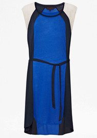 Great Plains Colour Block Jersey Dress - Navy