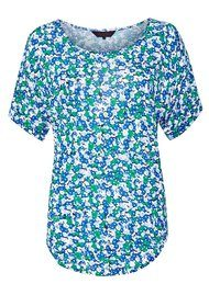 Great Plains Daisy Maze Ditzy Top - Green & Blue
