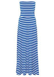 Great Plains Stripe Bandeau Dress - Blue & White