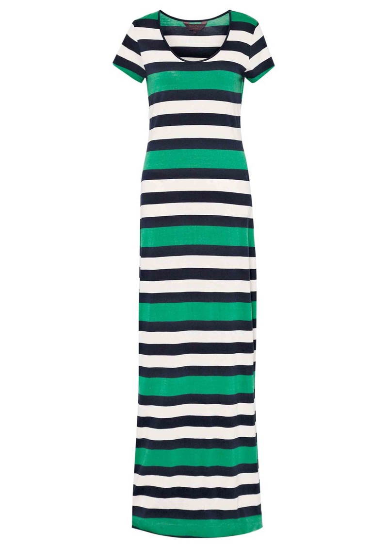 Jolly Roger Stripe Maxi Dress - Seahorse Green main image