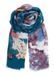 Becksondergaard K Summer Space Scarf - Beach Blue