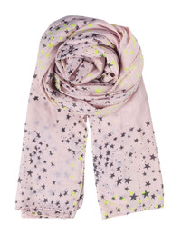 Becksondergaard K Circle Star Scarf - Cold Lemon