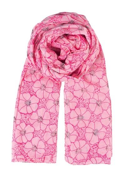 Becksondergaard K Dots & Flowers Scarf - Neon Pink main image