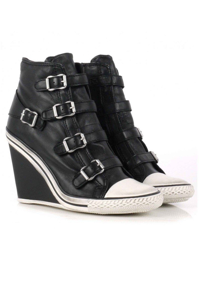 Ash Thelma Wedge Buckle Trainers - Black main image