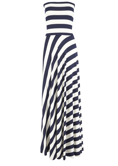 NADIA TARR Paris Lyon Striped Maxi Dress - Navy main image