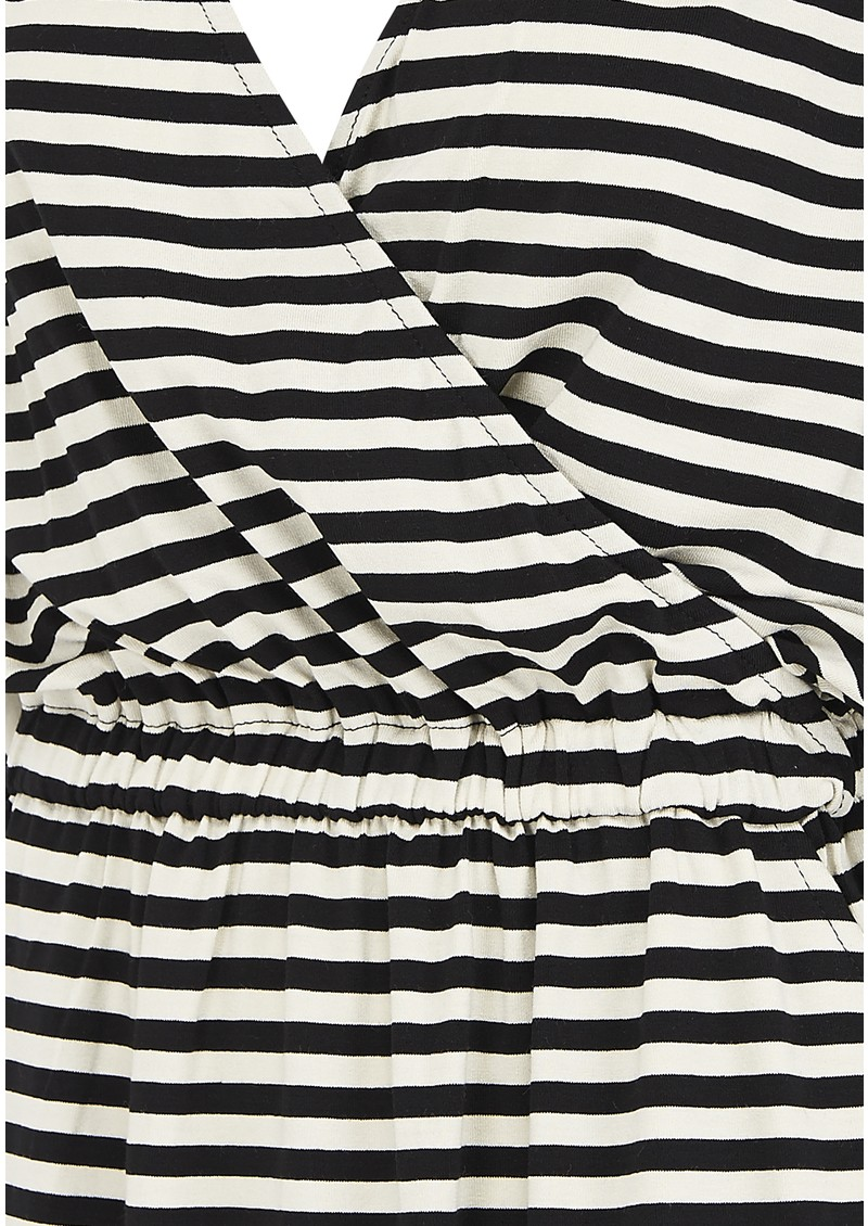 LOLLYS LAUNDRY Judy Stripe Dress - Black & Cream main image