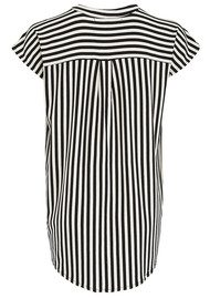 LOLLYS LAUNDRY Frederikke Stripe T Shirt - Black & Cream