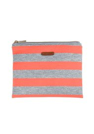 Becksondergaard K Lollypop Jersey Clutch Bag - Neon Orange & Grey