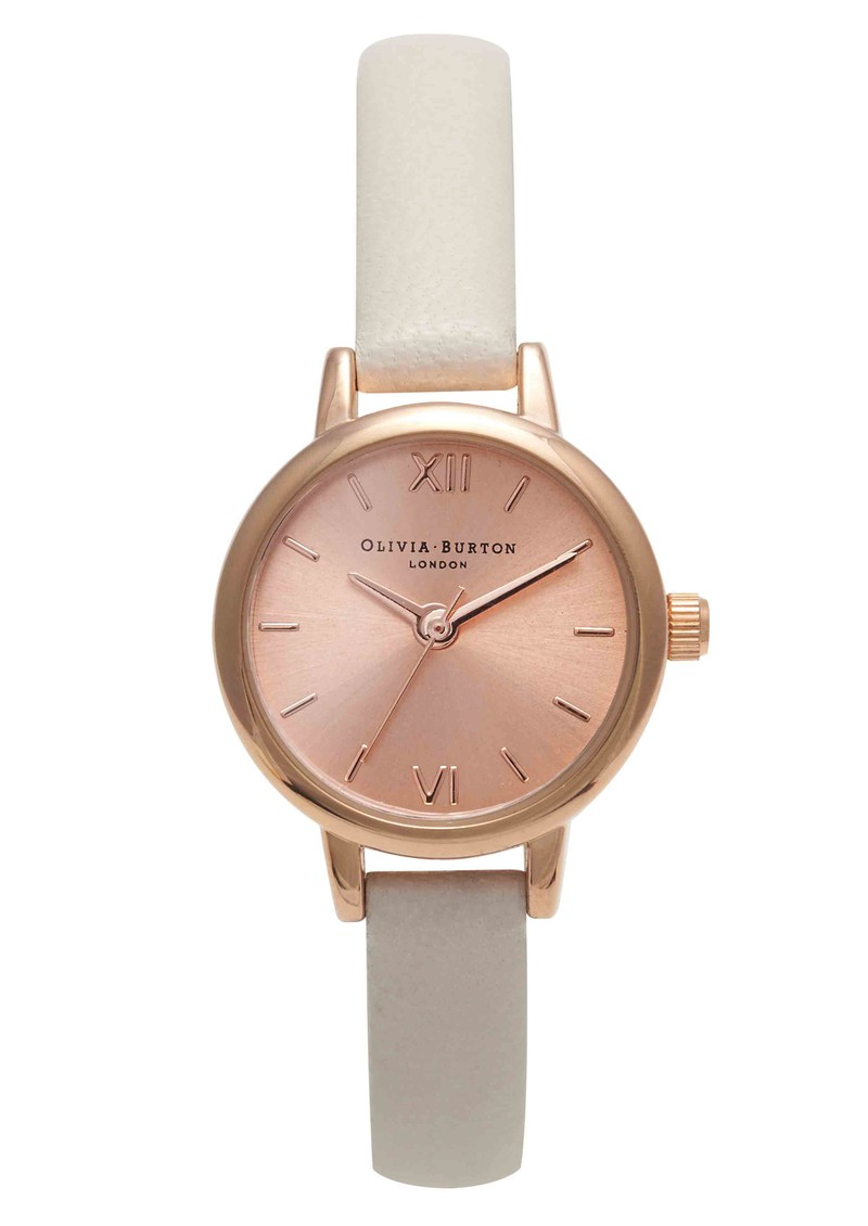 Mini Dial Watch - Mink & Rose Gold main image