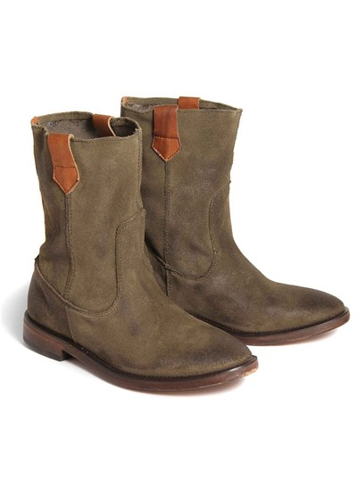 H By Hudson Hanwell Suede Ankle Boots - Khaki  main image