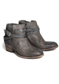 H By Hudson Horrigan Ankle Boots - Smoke