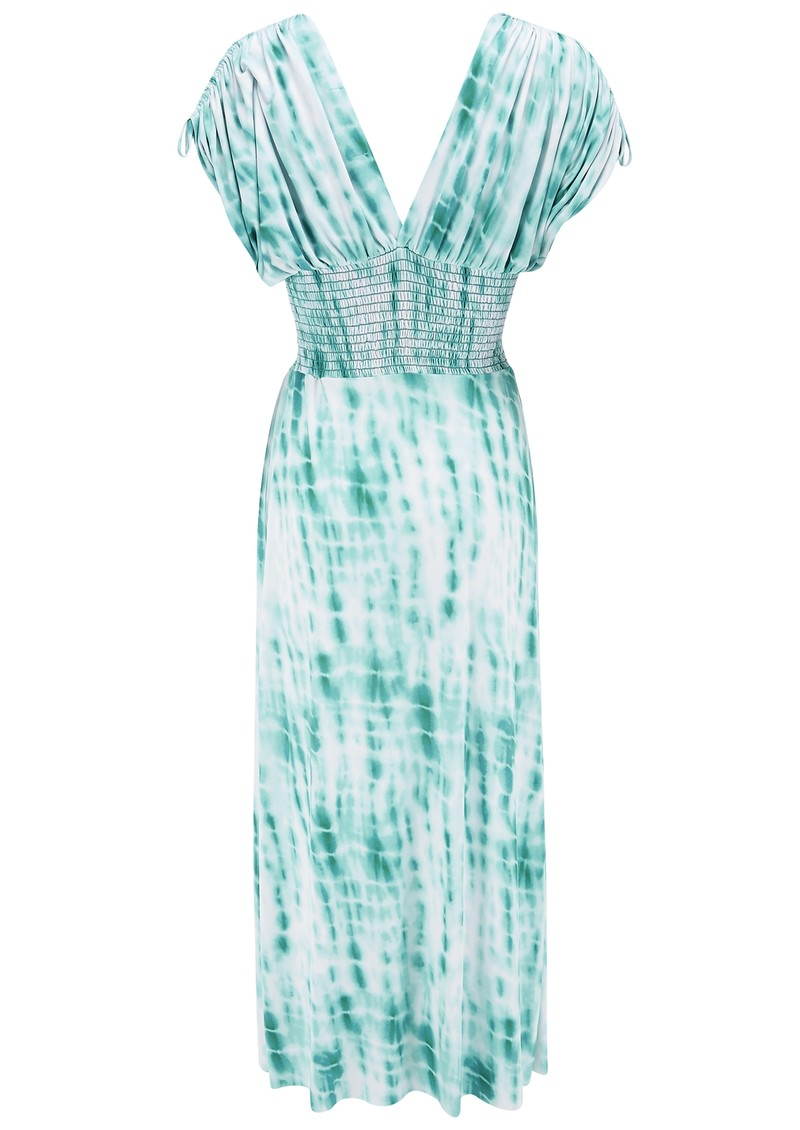 MISA Los Angeles Empire Smocked Maxi Dress - Mint main image