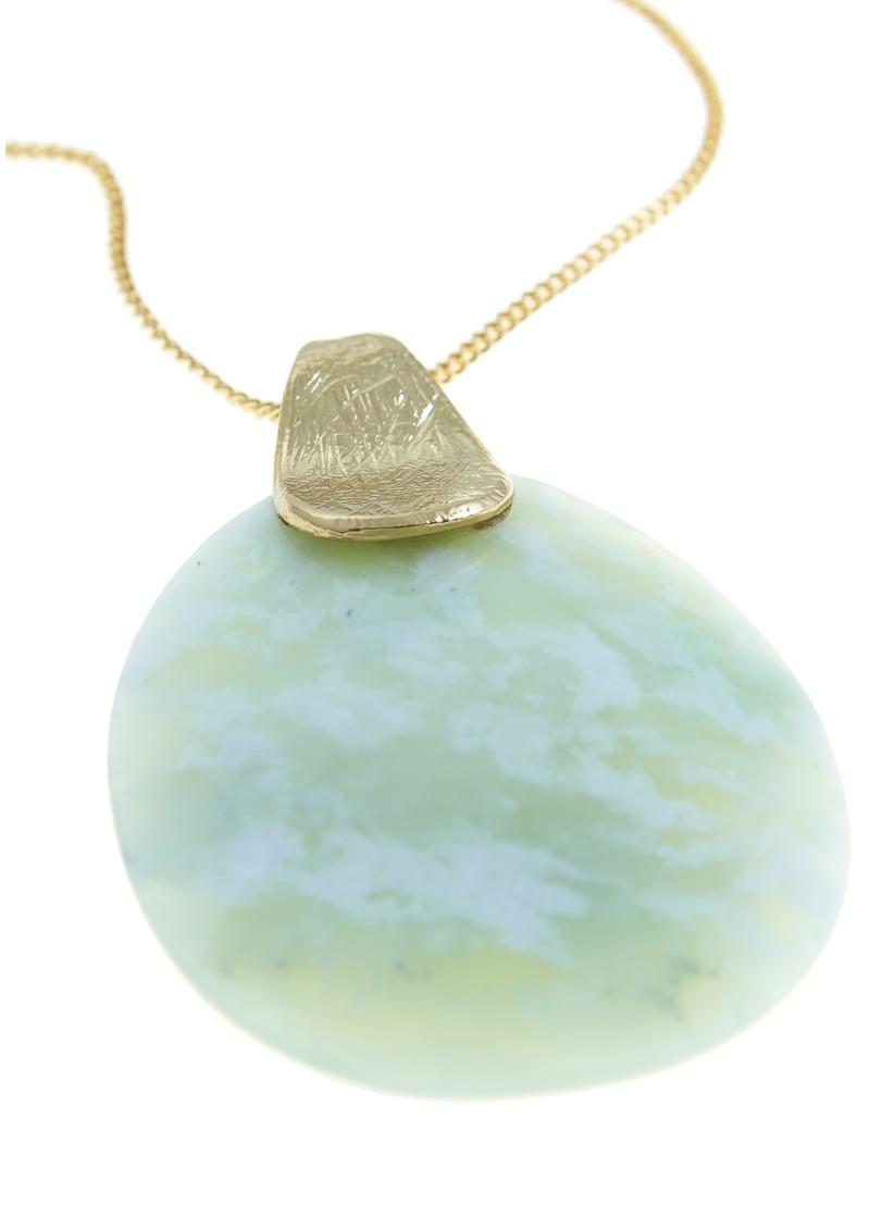 Lola Rose Oberon Long Necklace - Gold & Green main image
