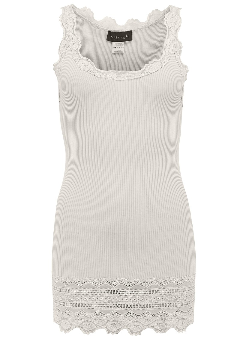 Rosemunde Wide Lace Silk Blend Tank - Oyster main image