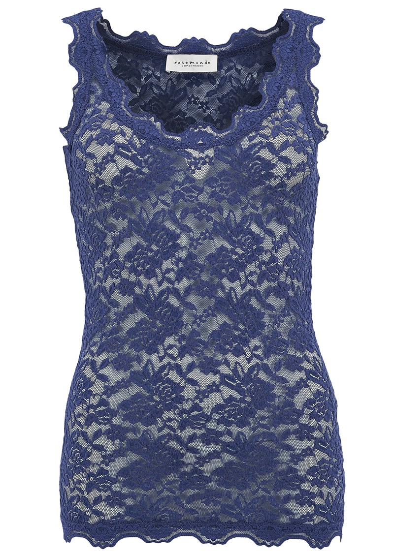 Lace Vest Top - True Blue main image