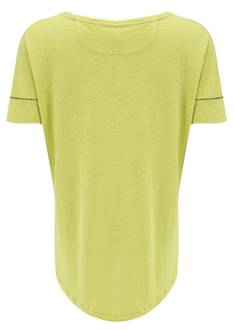 Luciana Pocket Tee - Lime main image