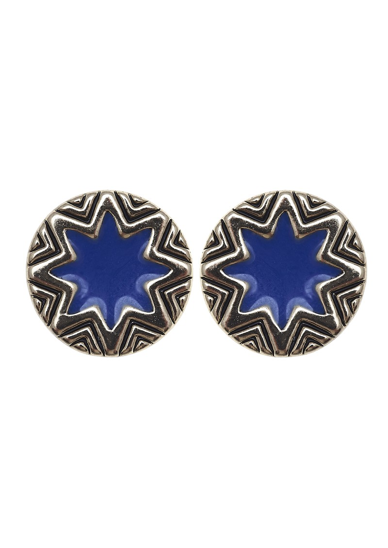 Mini Sunburst Earrings - Gold & Blue main image