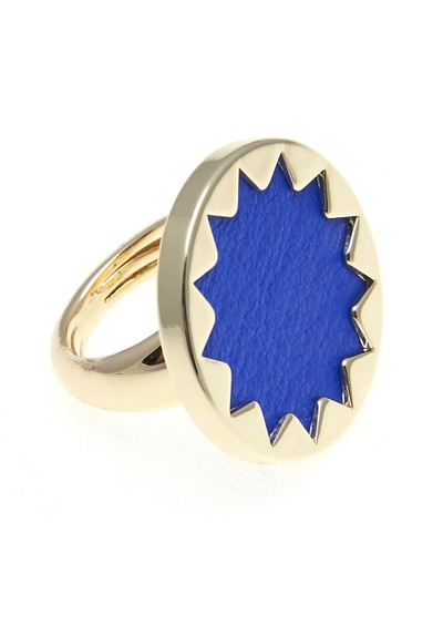 House Of Harlow Mini Sunburst Ring - Gold & Blue main image