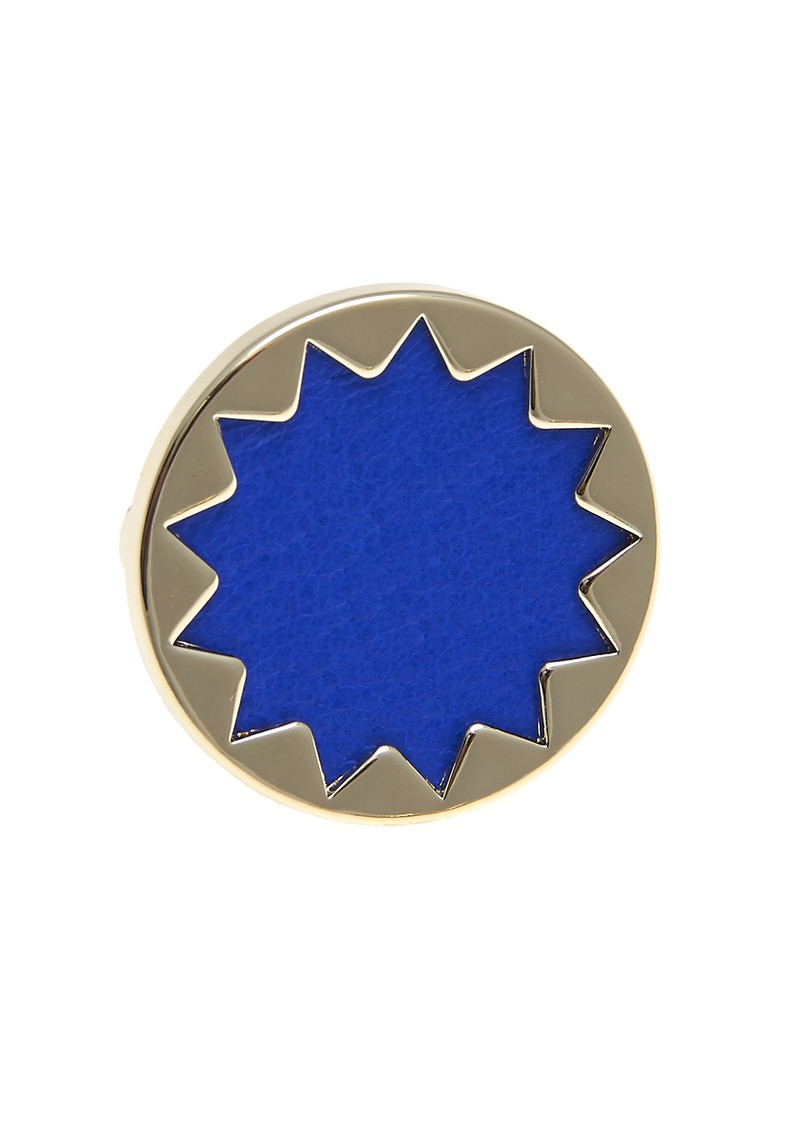 Mini Sunburst Ring - Gold & Blue main image