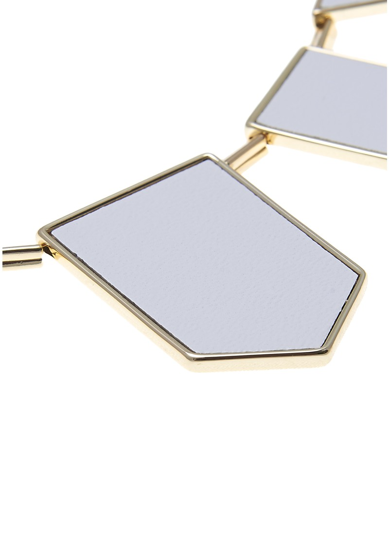 Station Necklace - White & Gold main image
