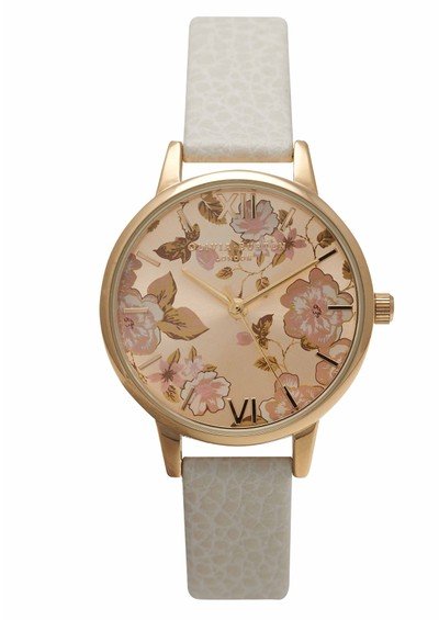 Olivia Burton Parlour Midi Dial Watch - Mink & Gold main image