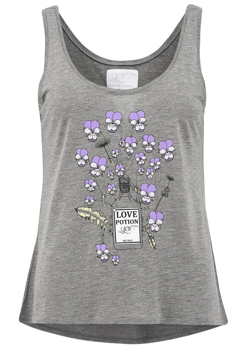 Language Of Flowers Viola Tank - Grey main image