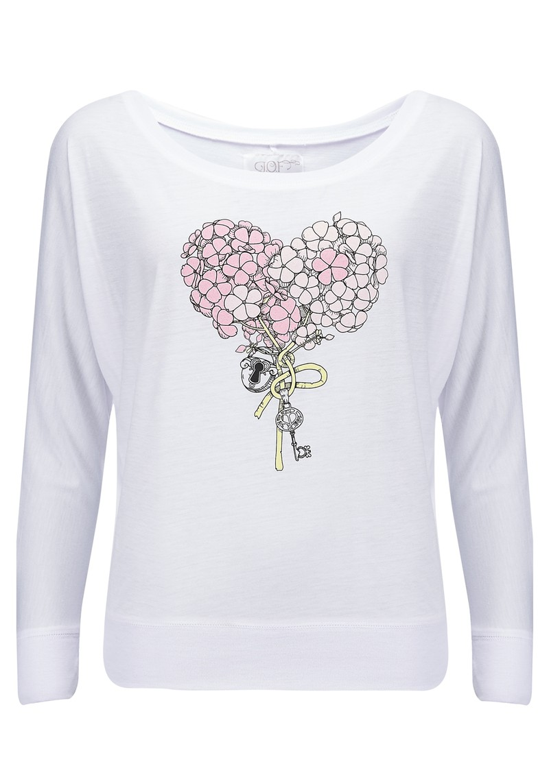 Language Of Flowers Phlox Sweater - White main image