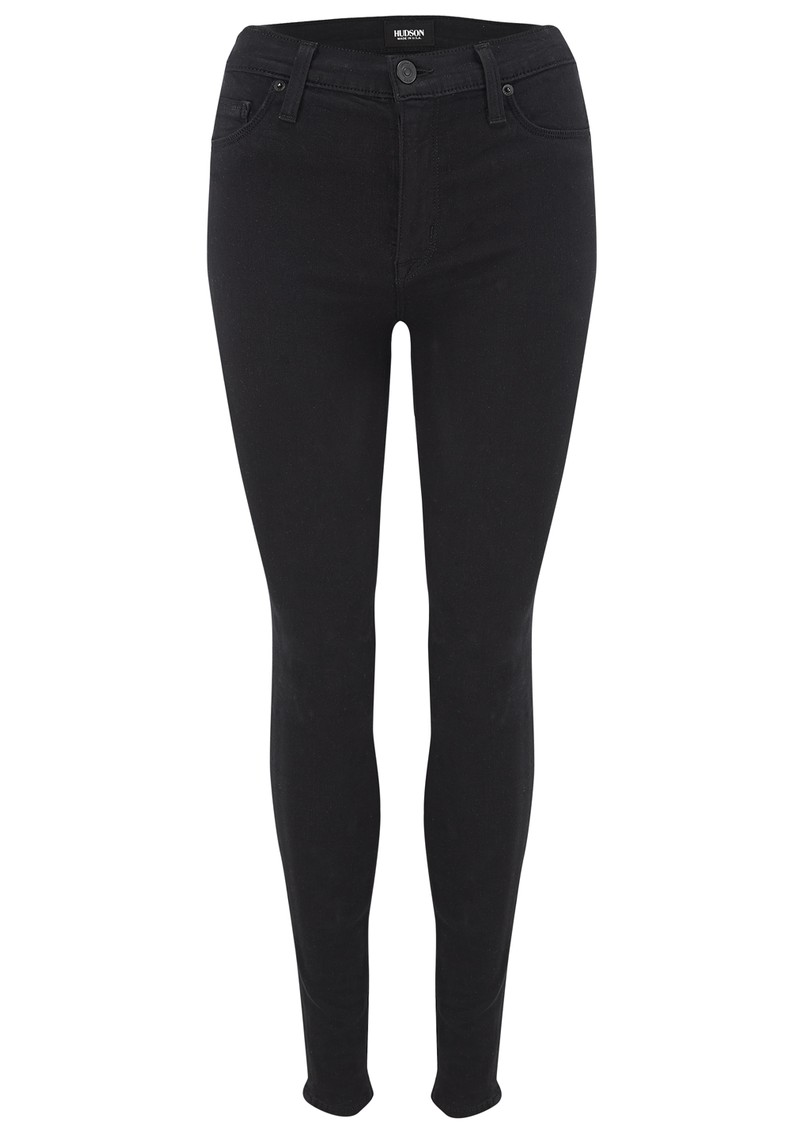 Barbara High Waist Skinny Jeans - Black main image