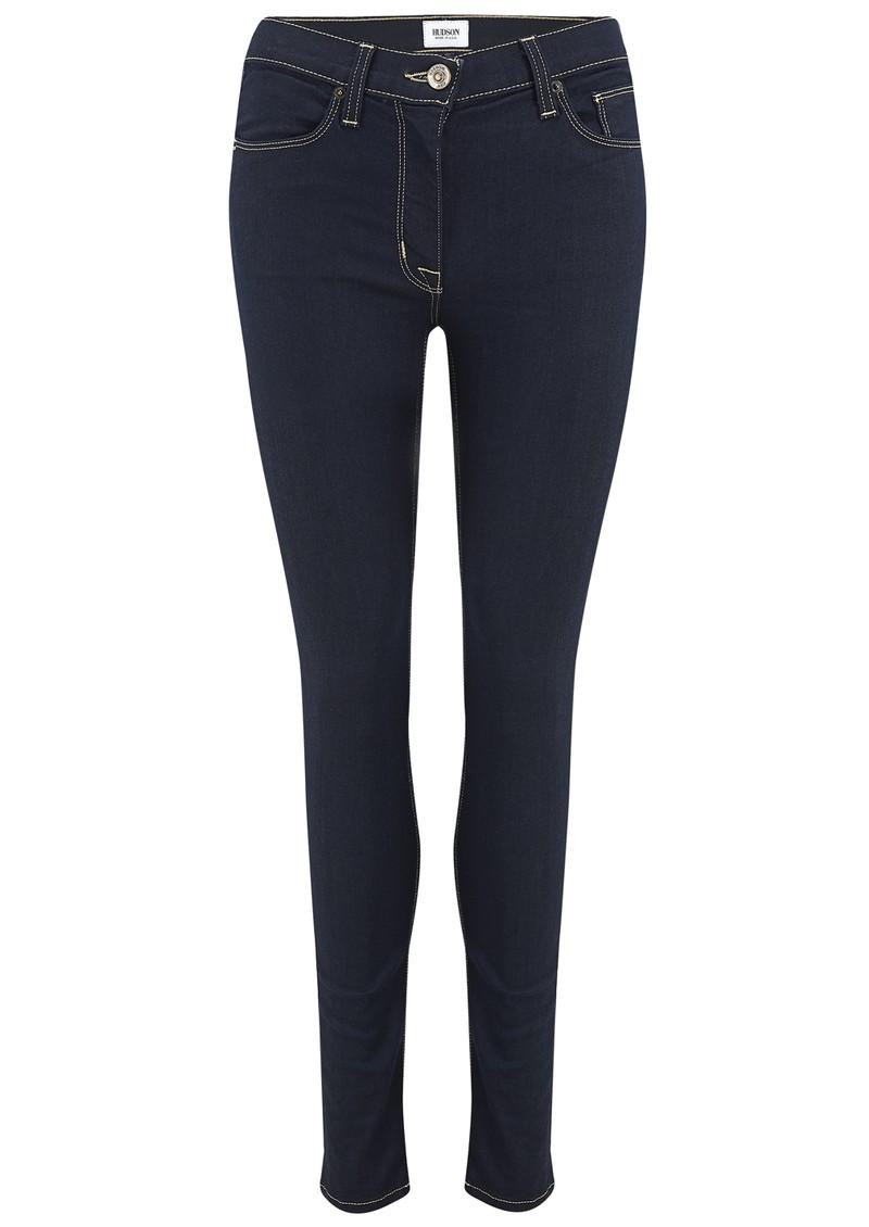 Hudson Jeans Barbara High Waist Skinny Jeans - Storm main image