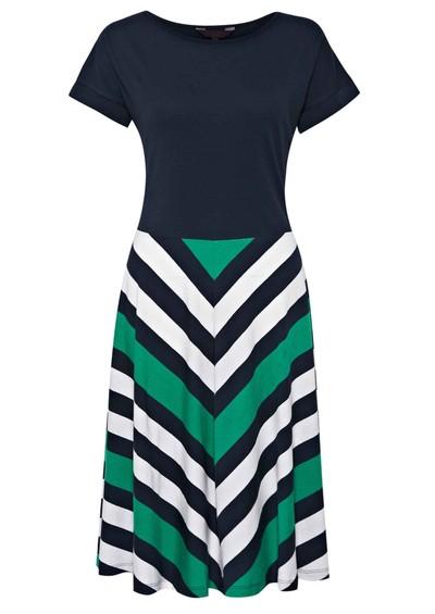 Great Plains Jolly Roger Chevron Stripe Dress - Seahorse Green  main image
