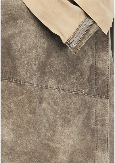 Muubaa Elbe Drape Leather Jacket - Desert  main image