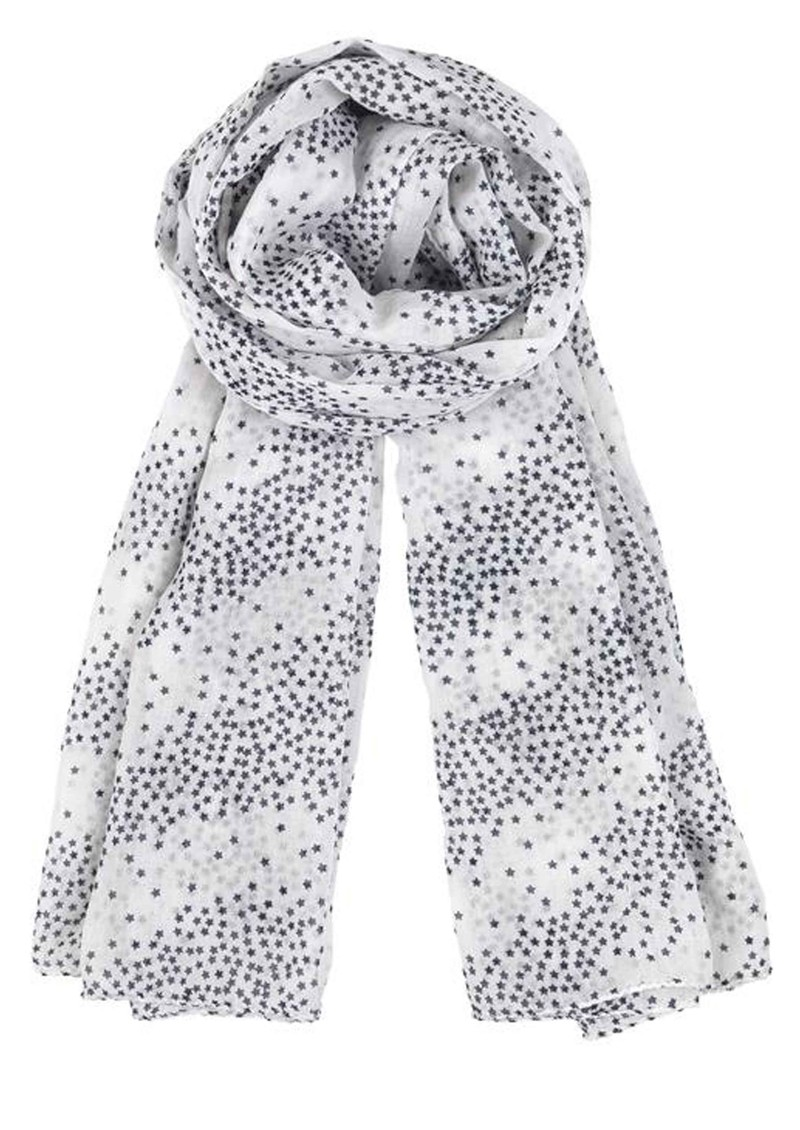Becksondergaard Star Galore Cotton Scarf - Navy main image