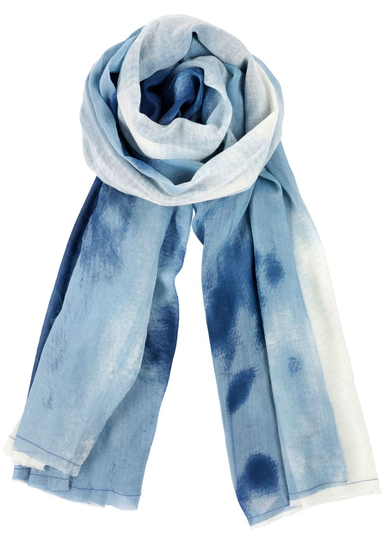 Danielle Cotton Scarf - Denim main image