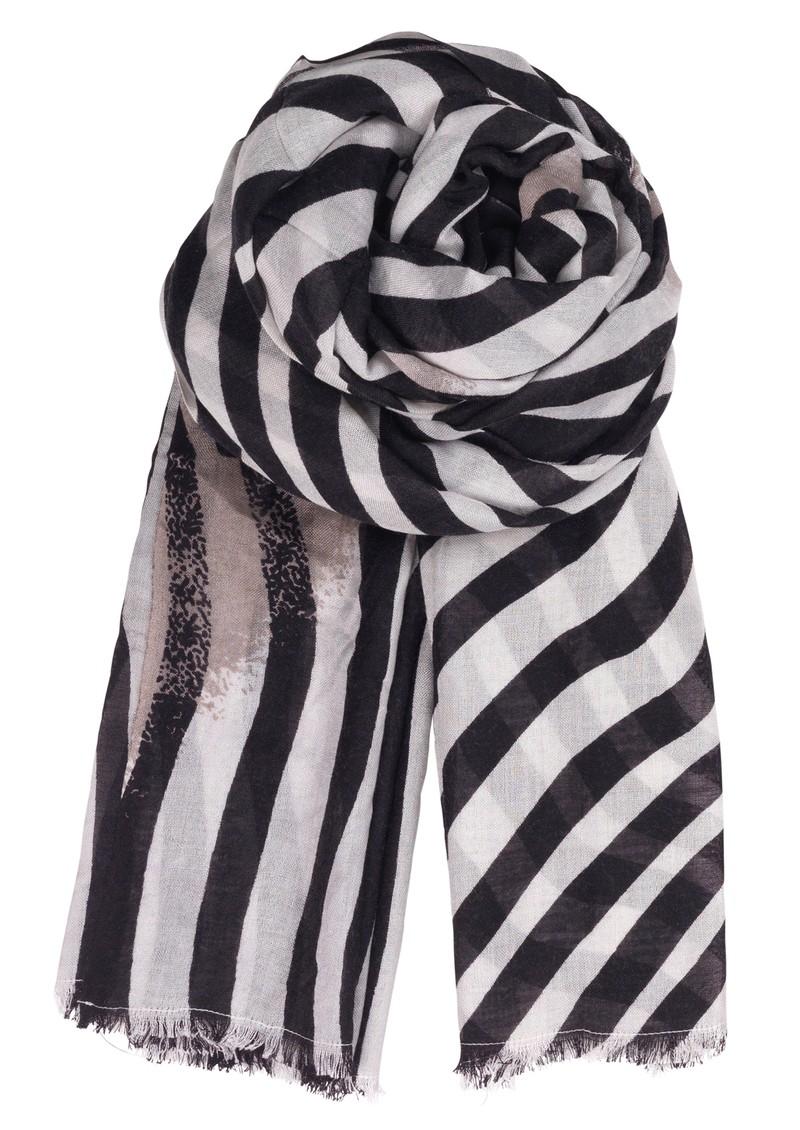 Becksondergaard L-Twirled Stripe Scarf - Black main image