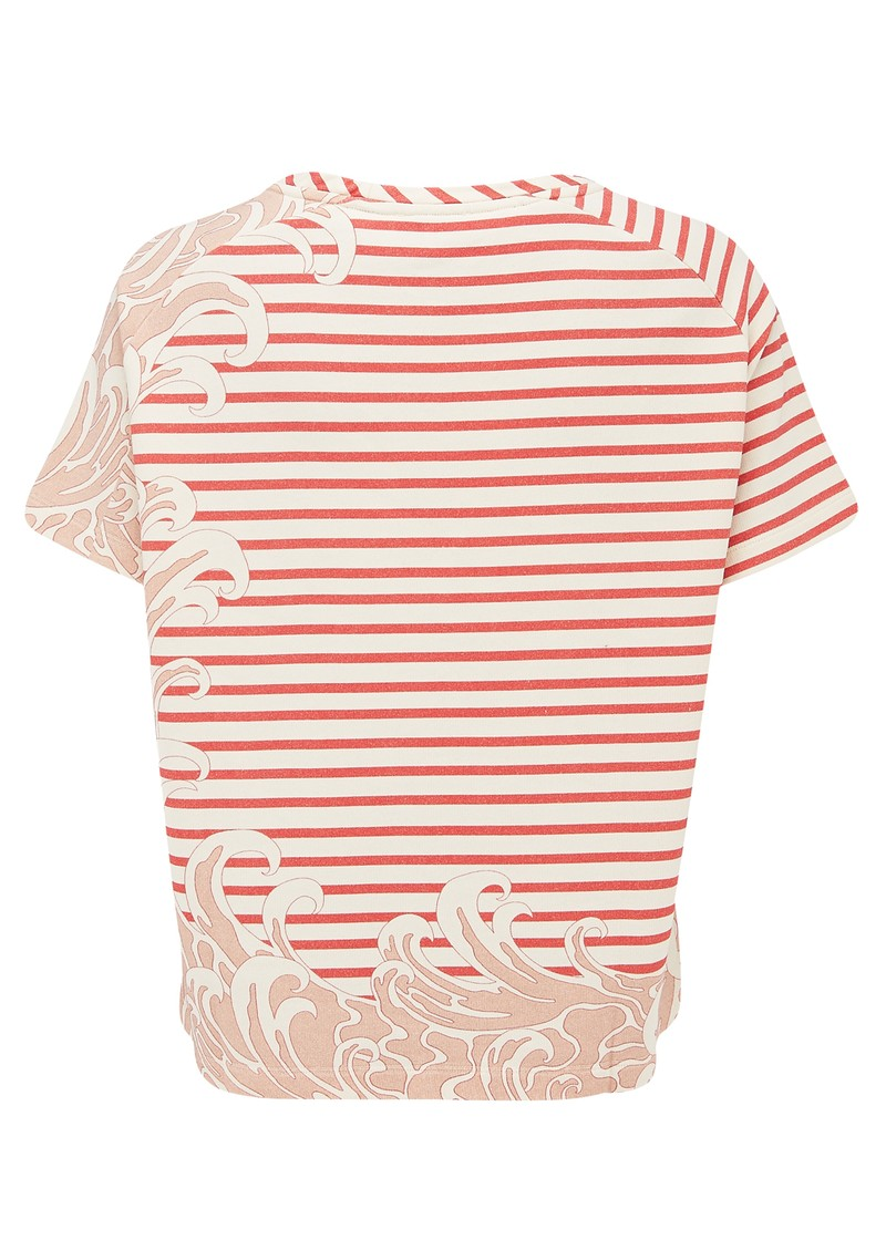 Paul and Joe Sister Sailor Short Sleeve Cotton Top - Framboise main image