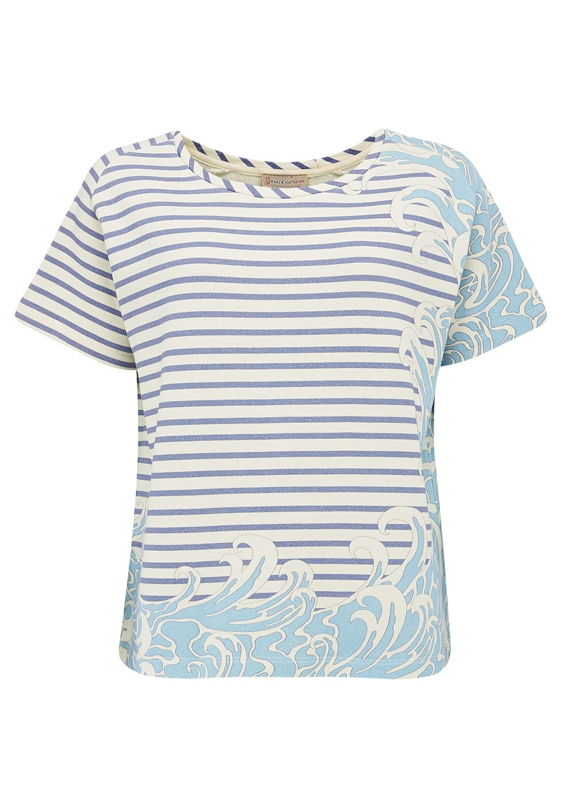 Sailor Short Sleeve Cotton Top - Bleu main image