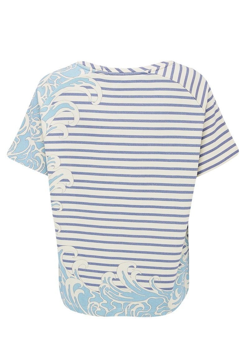 Paul and Joe Sister Sailor Short Sleeve Cotton Top - Bleu main image