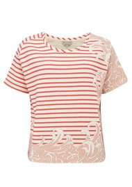 Paul and Joe Sister Sailor Short Sleeve Cotton Top - Framboise