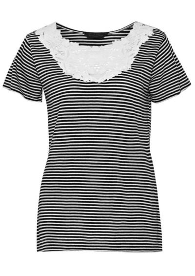 Great Plains Sofia Stripe Short Sleeve Top - Black main image